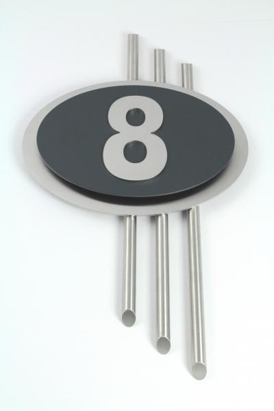hausnummern edelstahl nobel im design galaxy max 3 stellig v2a. Black Bedroom Furniture Sets. Home Design Ideas