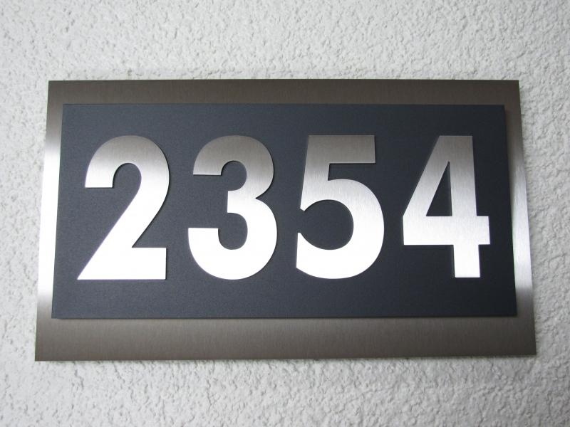 Hausnummer Anthrazit hausnummer edelstahl anthrazit im modernen design max 4 stellig