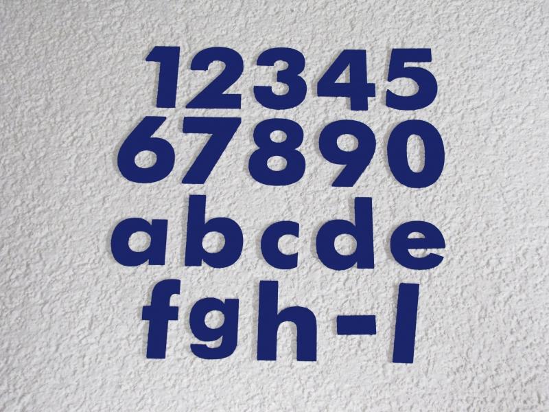 Hausnummer Anthrazit hausnummer anthrazit zahl buchstabe 20 cm 25 cm oder 30 cm