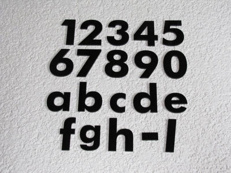 Hausnummer Anthrazit Zahl Buchstabe, 20 cm, 25 cm oder 30 cm